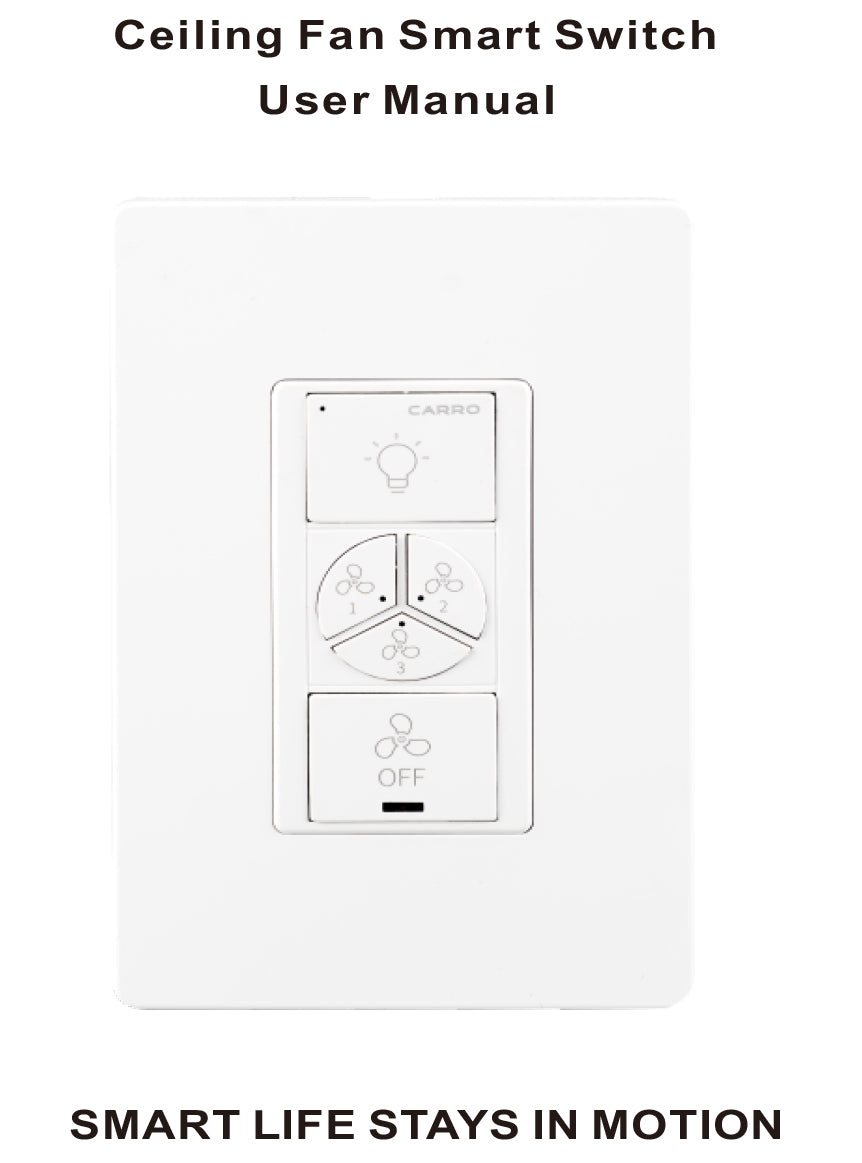 Carro Ceiling Fan Smart Switches Installation Manual - Cover