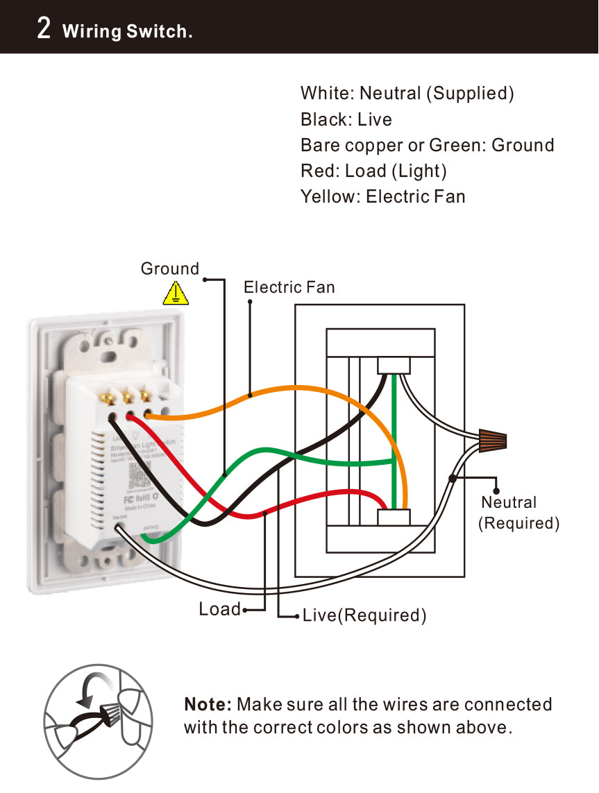 Carro Ceiling Fan Smart Switches Installation Manual - Page 2