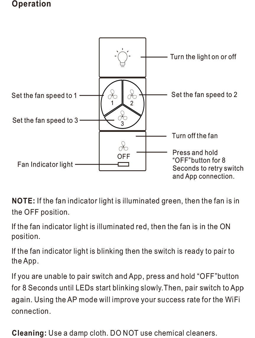 Carro Ceiling Fan Smart Switches Installation Manual - Page 6
