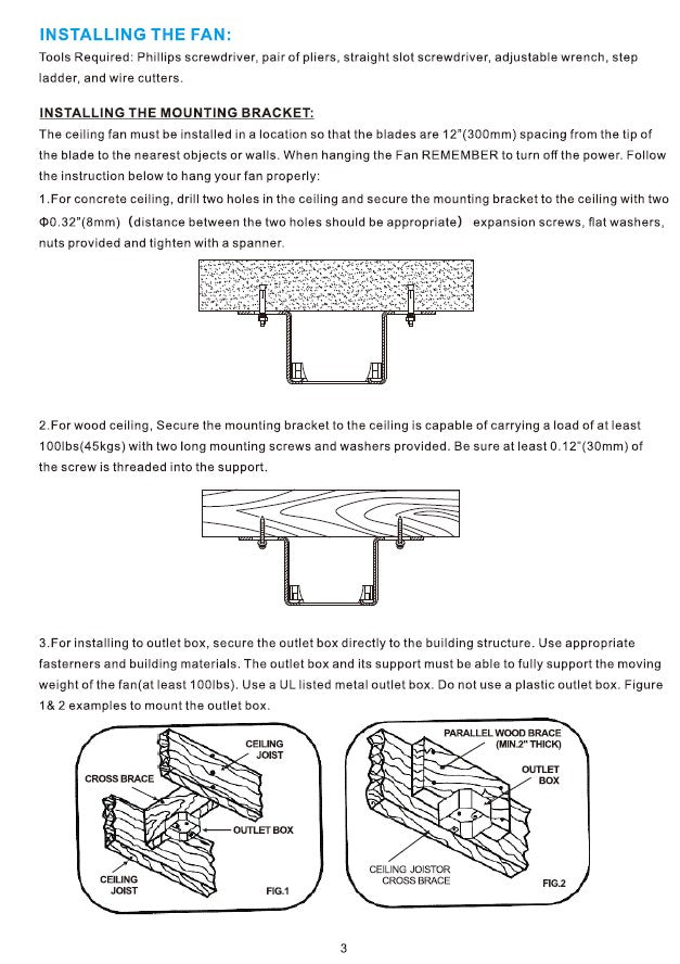 Heritage Smart Ceiling Fan by Carro USA Inc. Installation Manual - Page 3