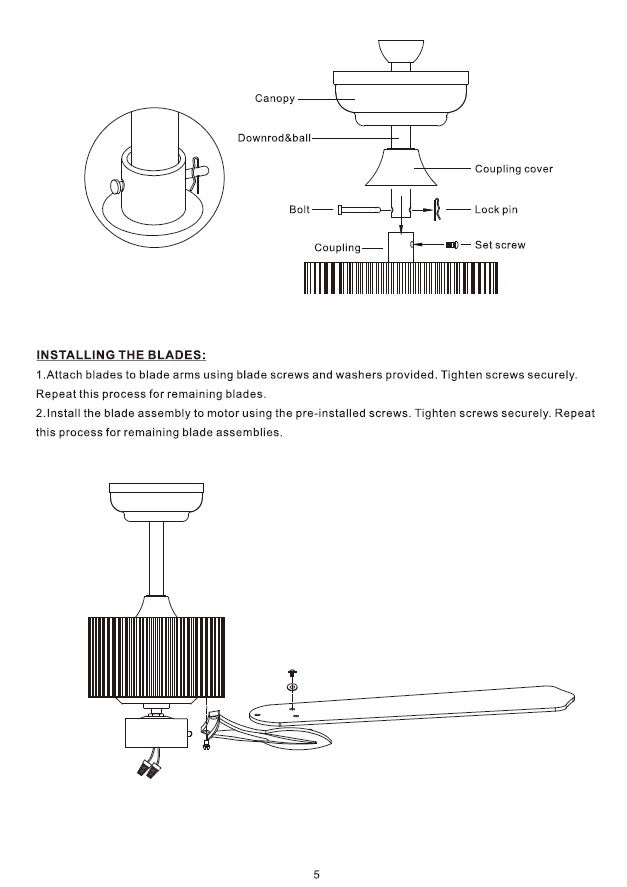 Heritage Smart Ceiling Fan by Carro USA Inc. Installation Manual - Page 5