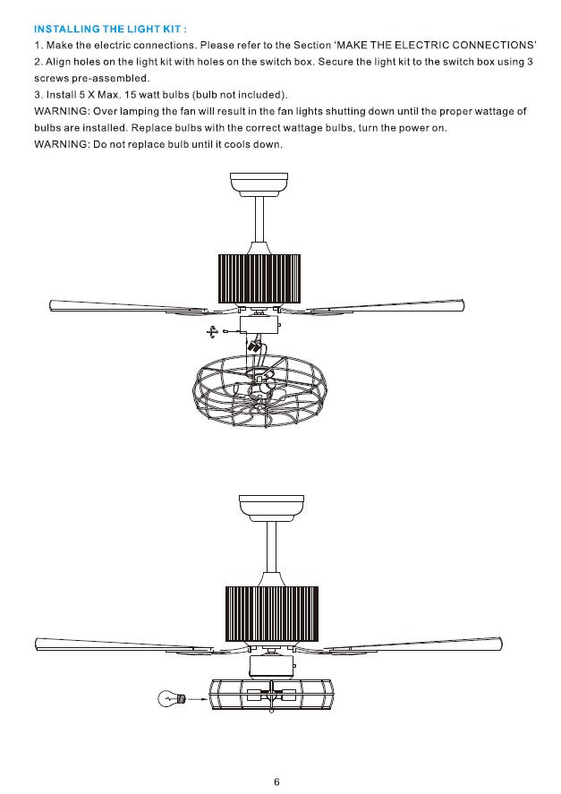 Heritage Smart Ceiling Fan by Carro USA Inc. Installation Manual - Page 6