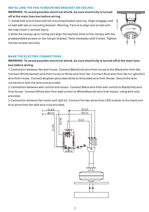 Heritage Smart Ceiling Fan by Carro USA Inc. Installation Manual - Page 7