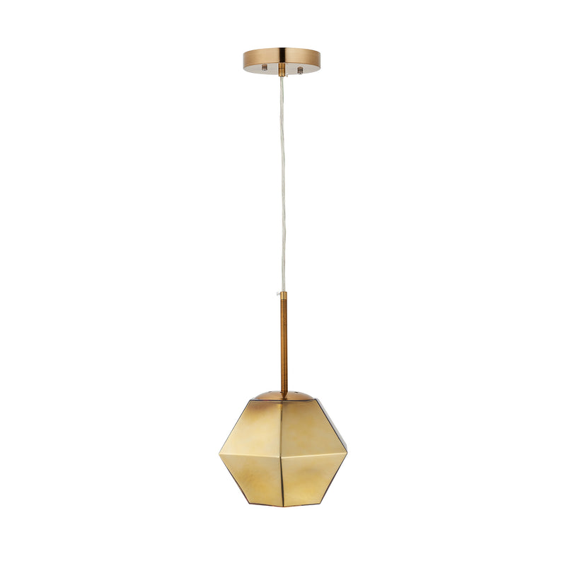 Carro Home Pegasus Jewel Tone Glass Pendant Light - Golden Diamond Adjustable Height