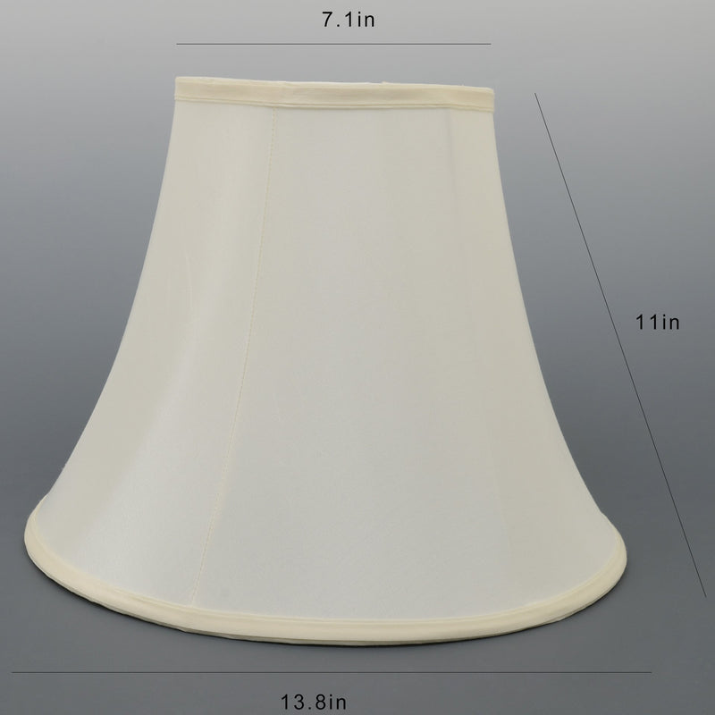 Carro Home Ivory White Bell Lamp Shade 7x12x9 (Spider Fitting) - Set of 2