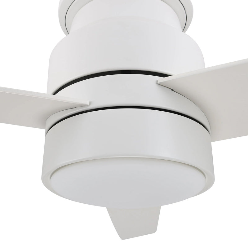 Carro Ranger 52'' 3-Blade Flush Mount Smart Ceiling Fan with LED Light Kit & Smart Wall Switch - White/White