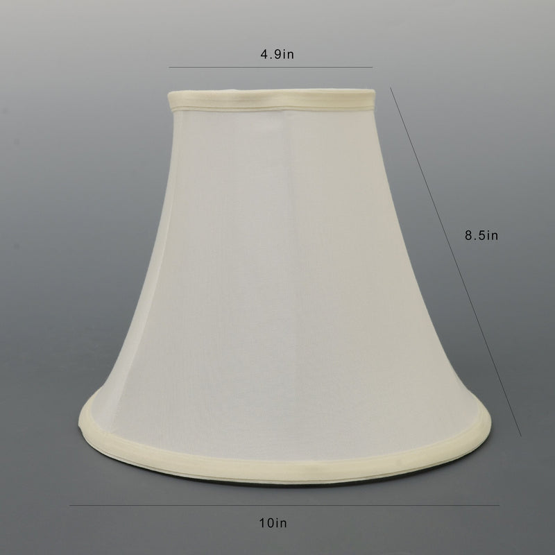 Carro Home Ivory White Bell Lamp Shade 5x10x8 (Spider Fitting) - Set of 2