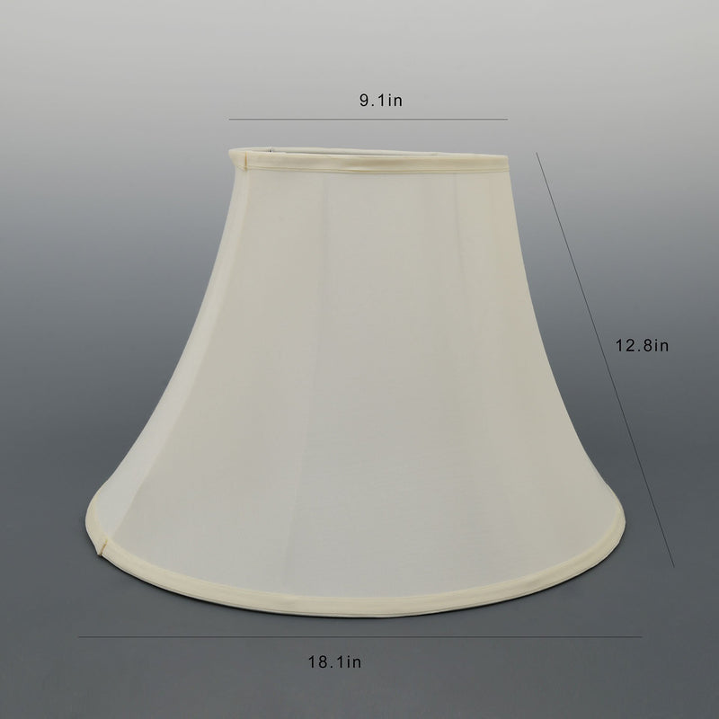Carro Home Creme White Bell Lamp Shade 9x18x13(Spider Fitting)-Set Of 2