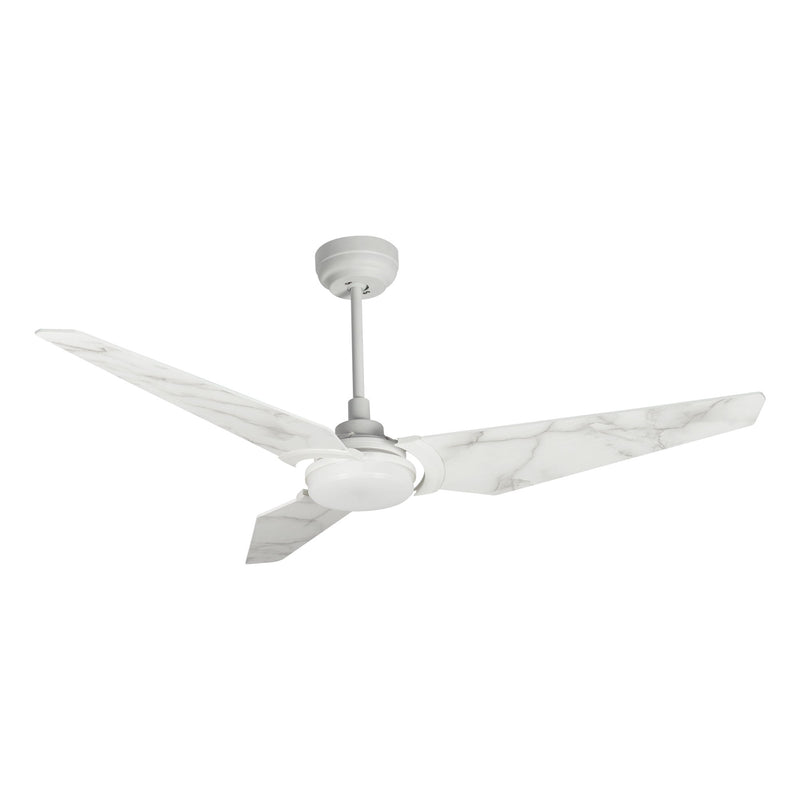 "Trailblazer 52"" 3-Blade Smart Ceiling Fan with LED Light Kit & Remote-White/Marble Pattern"