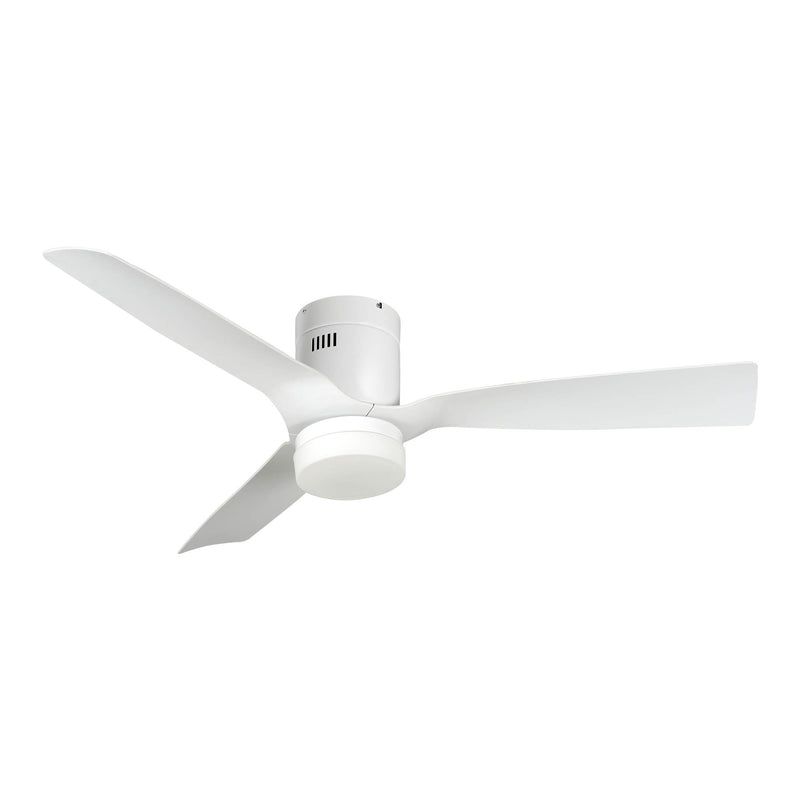 "Striver 52"" 5-Blade Smart Ceiling Fan with LED Light Kit & Remote - White/White"