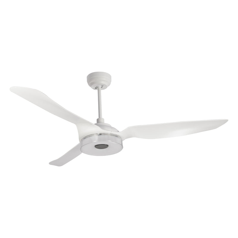 Icebreaker 56'' 3-Blade Smart Ceiling Fan with LED Light Kit & Remote - White case with White fan blades