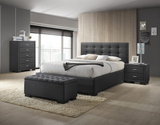 Bondi Bed Suite in Charcoal with Bedsides, Tallboy and Blanket Box