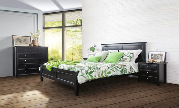 Ballina Bed Suite with Bedsides and Tallboy in Black
