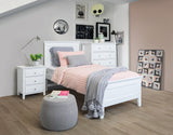 Ballina Bed Suite with Bedsides and Tallboy - Single in White