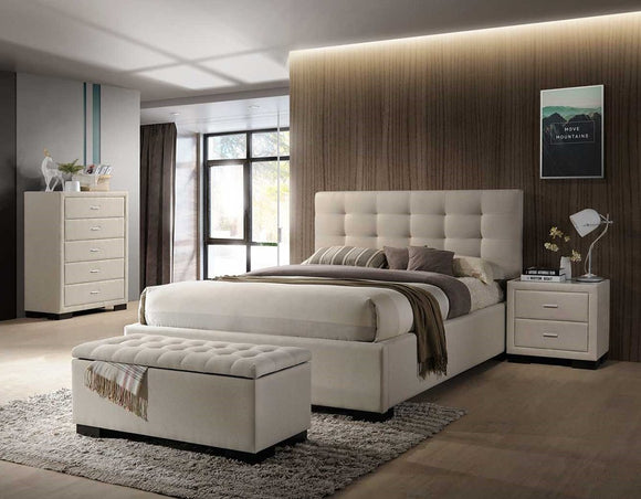 Bondi Bed Suite in Beige with Bedsides and Tallboy and Blanket Box