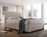 Crystal Upholstered Fabric Bed with Gas Lift Base