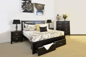 Crystal Bed with 2 Drawers Underbed Storage