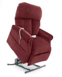D30 Electric Lift Chair/Recliner by Pride Mobility in Red Fabric