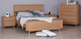 Springwood White Oak Bed Suite with  Tallboy and Side Drawers
