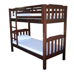 Adelaide Single Timber Bunk Bed in Walnut