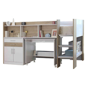 """Appleton"" Loft Bunk with Desk and Cabinet"