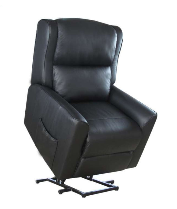 Baltimore Dual-Motor Lift Chair/Recliner - Black Leather