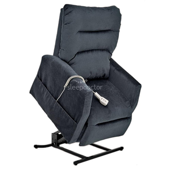 C6 Electric Lift Chair/Recliner by Pride Moblity in Arctic Blue Fabric.