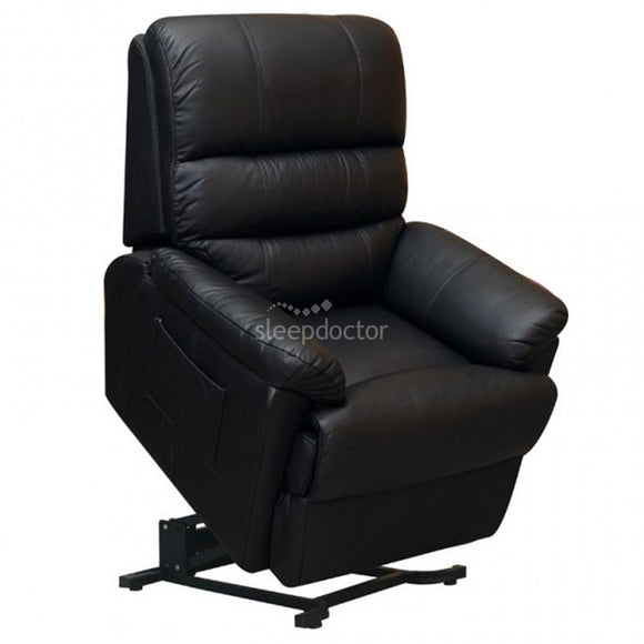 Donvale Leather Lift Chair/Recliner in Black