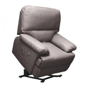 Elwood Leather Lift Chair/Recliner in Stone Colour.