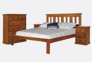 Katherine Bed in Walnut.