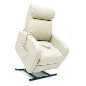 LC101 Leather Electric Adjustable Lift Chair (Single Motor) in White.