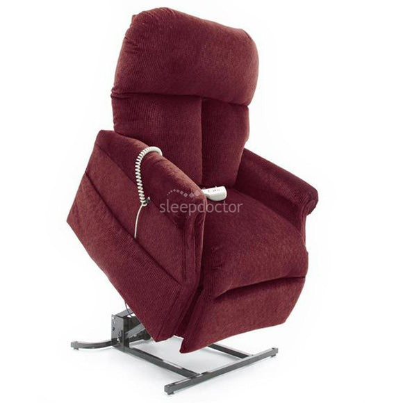 LC107 Leather Electric Adjustable Lift Chair (Dual Motor) in Red.