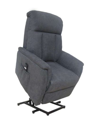Lytle Single Motor Lift Chair/Recliner in Grey Fabric.