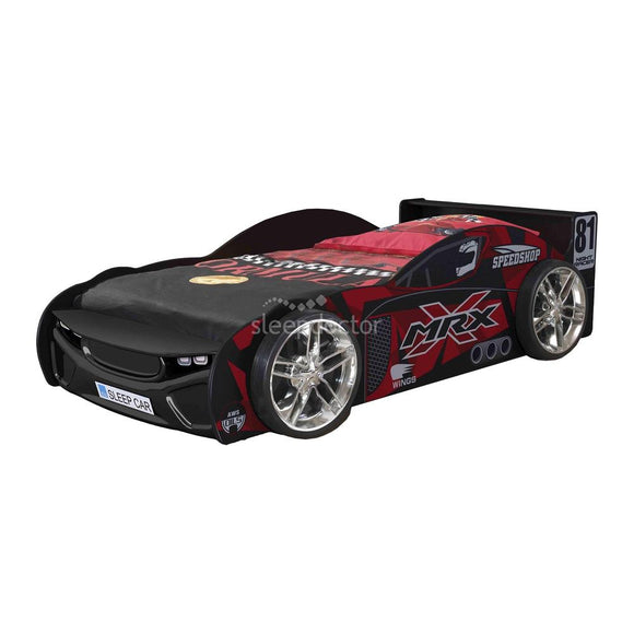 MRX Speed 81 Racing Car Single Bed  Black