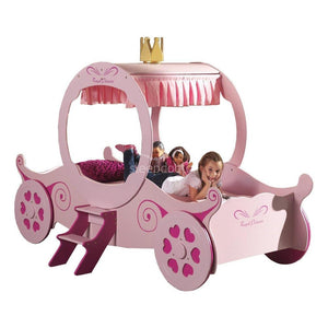 Princess K Pink Carriage Bed with Stairs