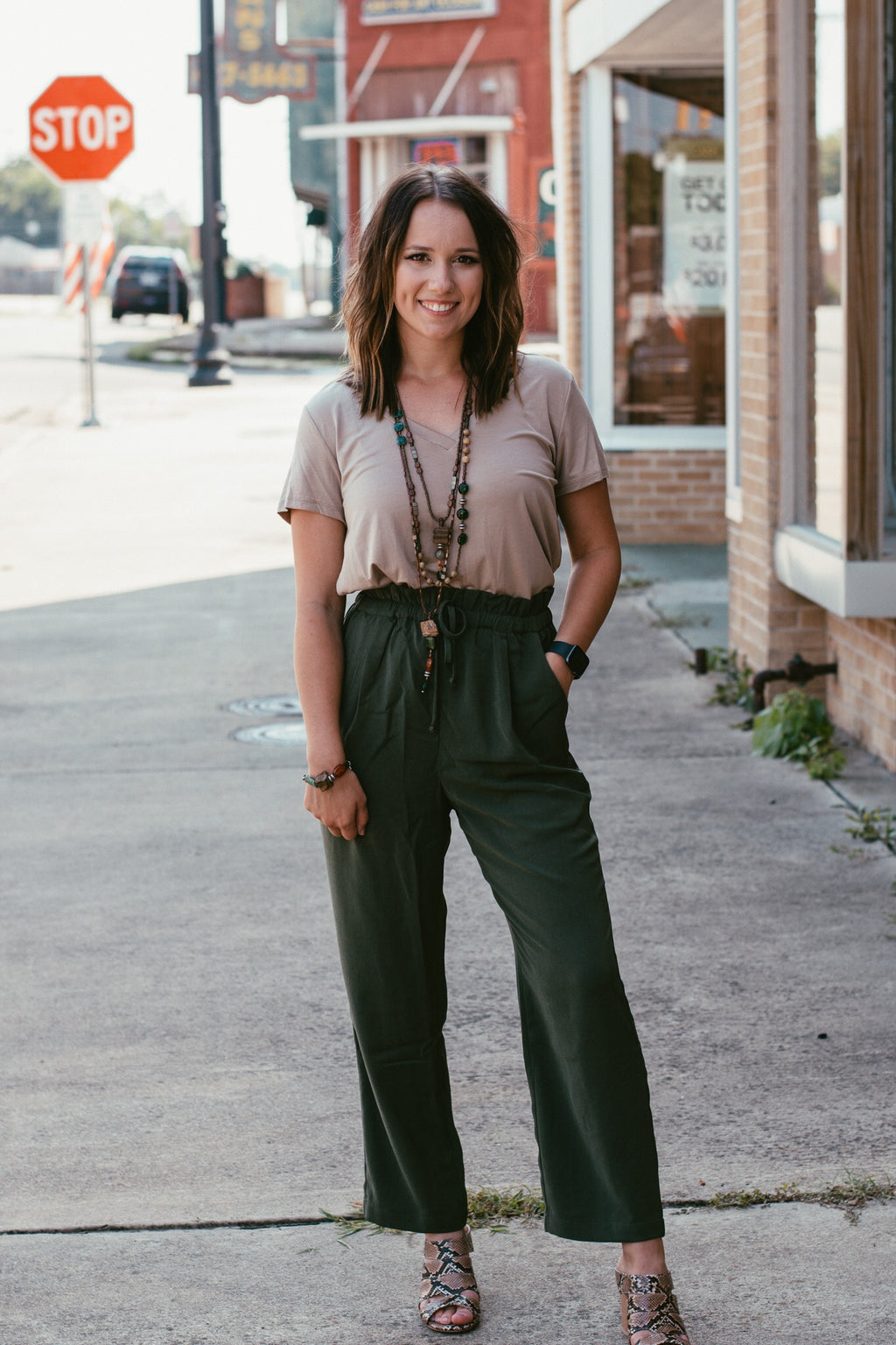 Olive Dress Slacks