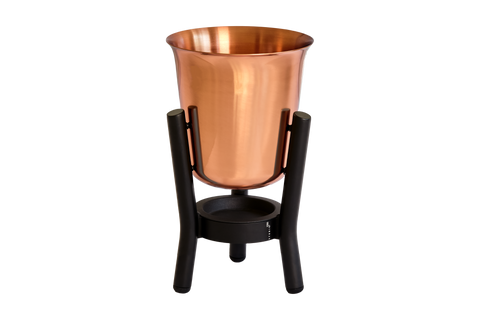 100% Copper Champagne Cooler with Matt Black Stand