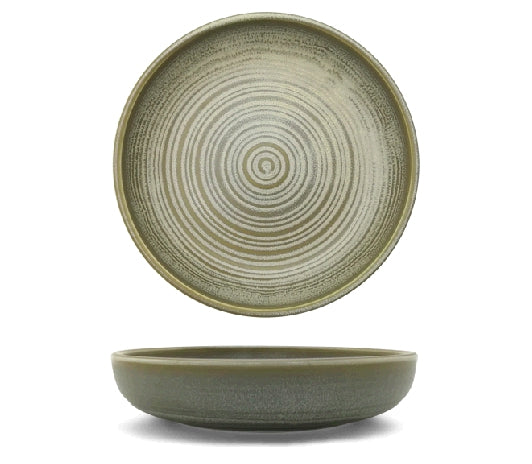 Olive Deep Plate With Upstanding Rim Ø19 x 5cm