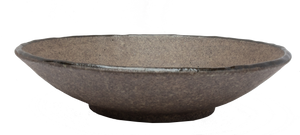 Earth Shallow Bowl Ø24 x H:5.5cm - Dark Brown
