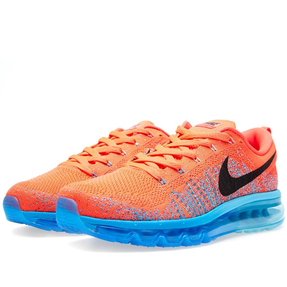 Nike Flyknit Max Bright Crimson, Black & Blue - Kick Game