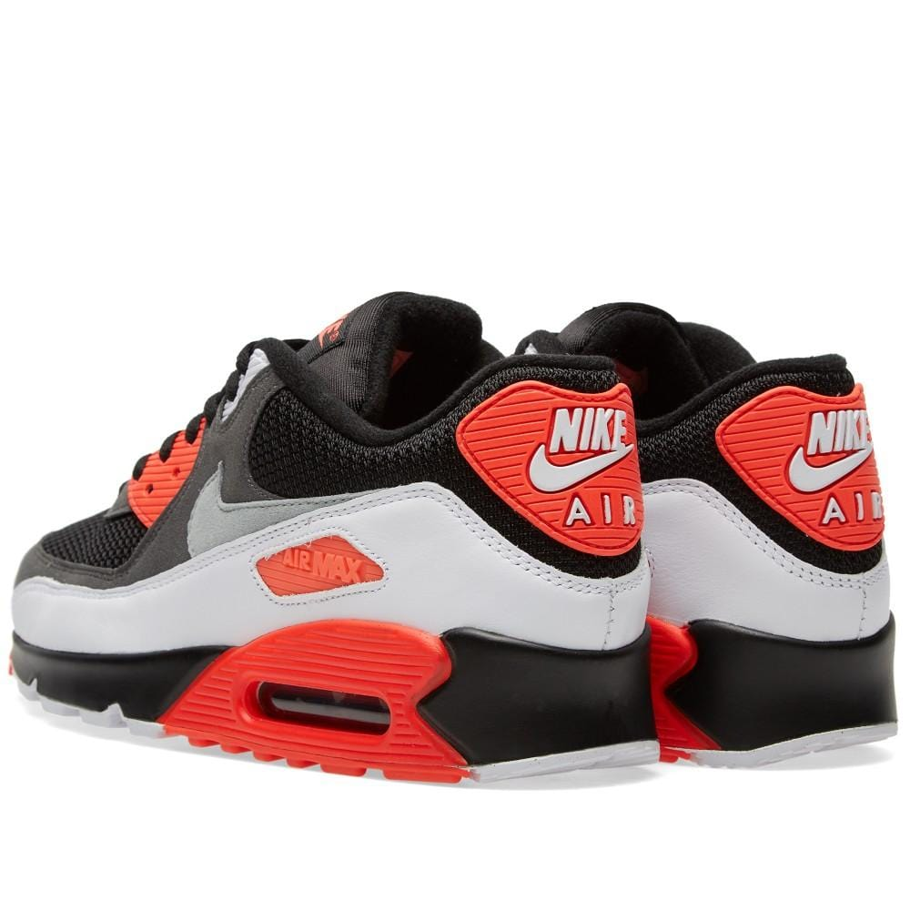 NIKE AIR MAX 90 OG 'REVERSE INFRARED' Black, Neutral & Dark Grey - Kick Game