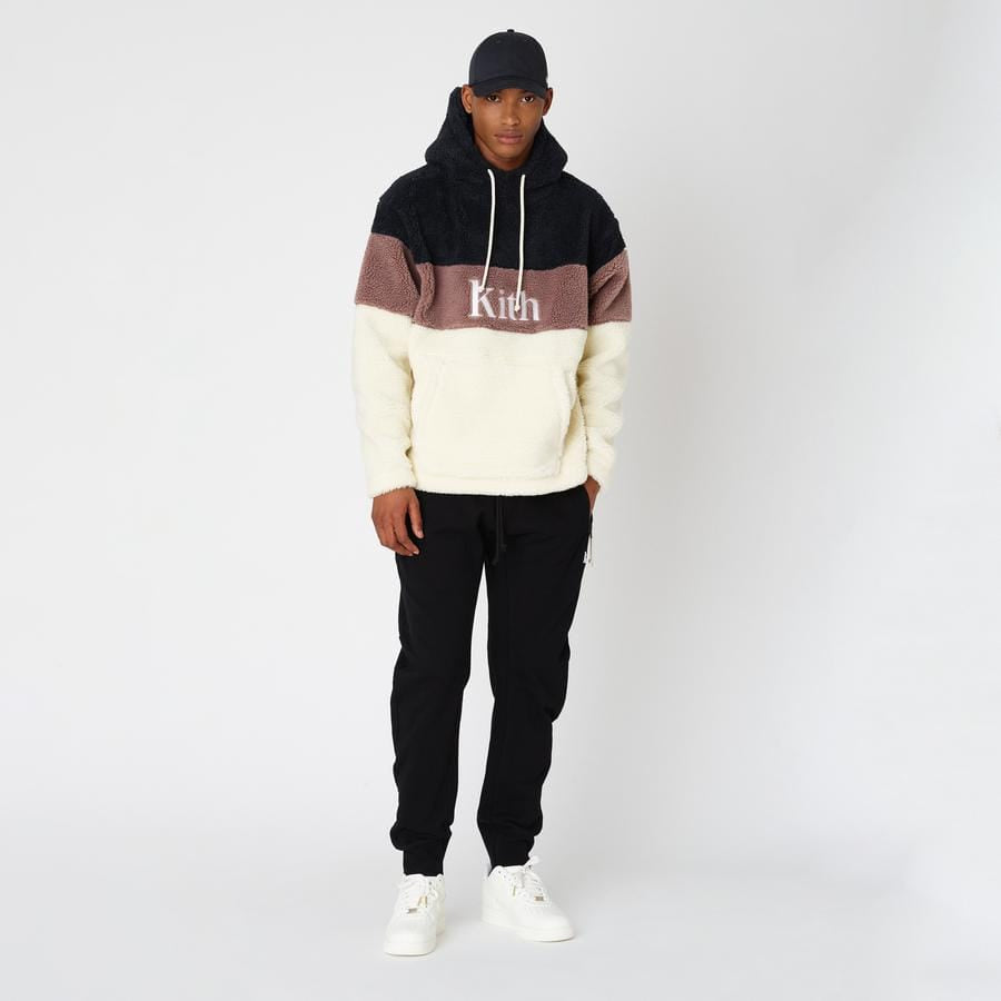 Kith Sherpa Double Pocket Hoodie Mauve - Kick Game