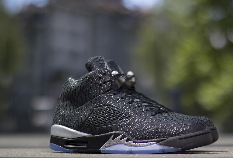 AIR JORDAN 3LAB5 Black & Metallic Silver - Kick Game
