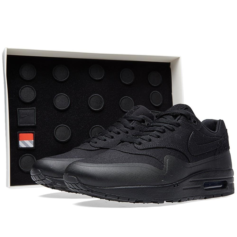 Nike Durable Nike Air Max 1 Black V Sp 'Patch' Contemporary