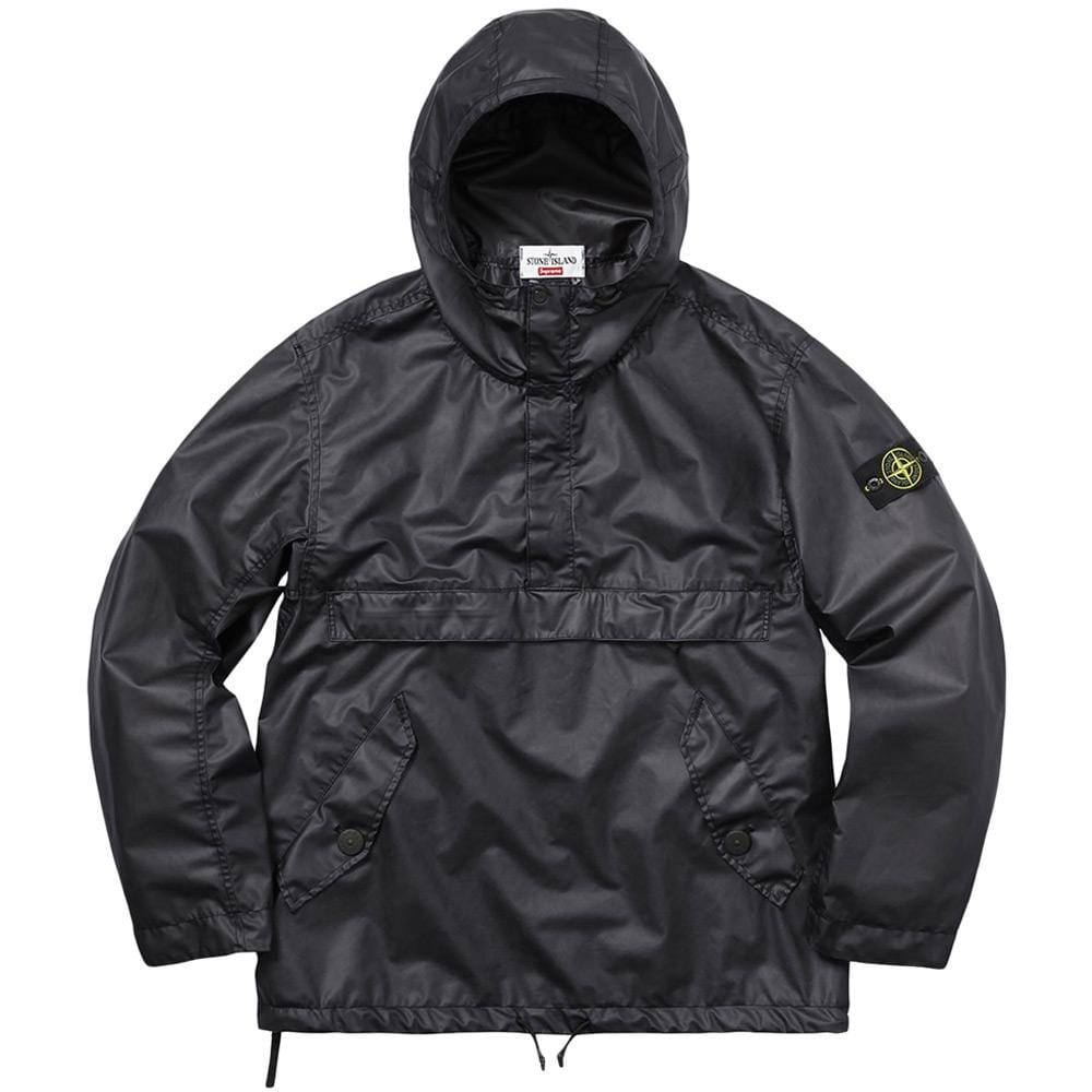 STONE ISLAND FOR SUPREME POLY COVER COMPOSITE ANORAK IN BLACK - Kick Game