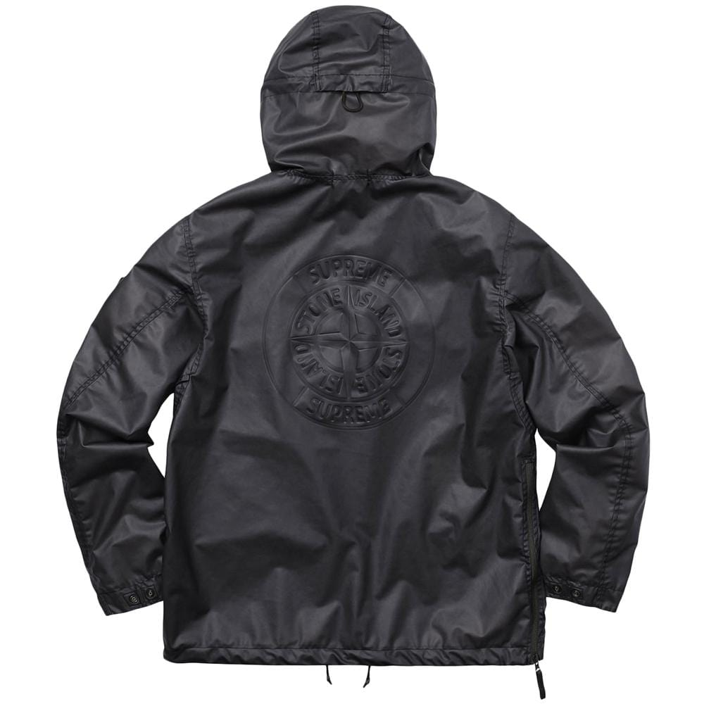 aaf70624c STONE ISLAND FOR SUPREME POLY COVER COMPOSITE ANORAK IN BLACK