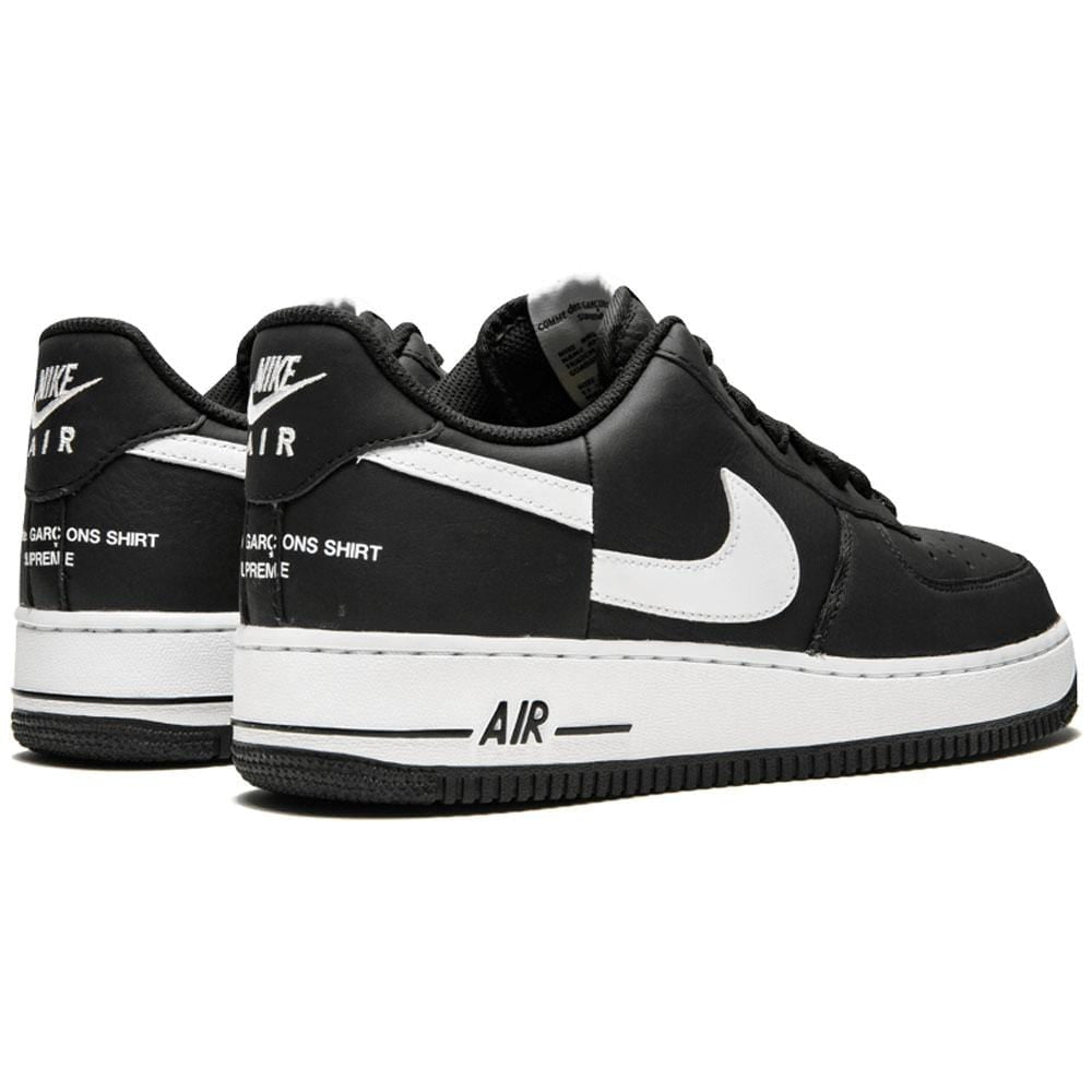 reputable site 479ee eb6ec Supreme x Comme des Garcons x Nike Air Force 1 Low Black White