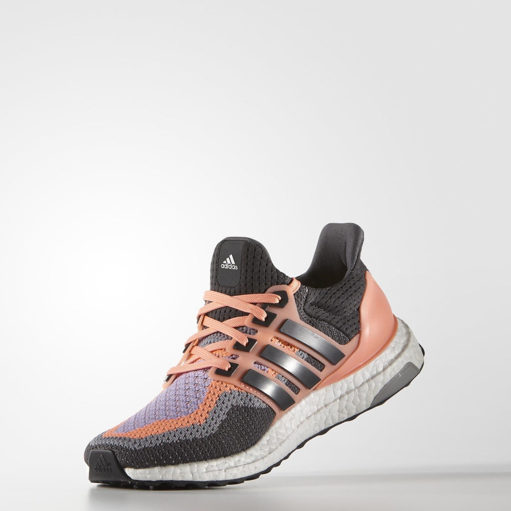 Adidas Womens Ultra Boost - Sun Glow-Solid Grey-Purple Glow - Kick Game