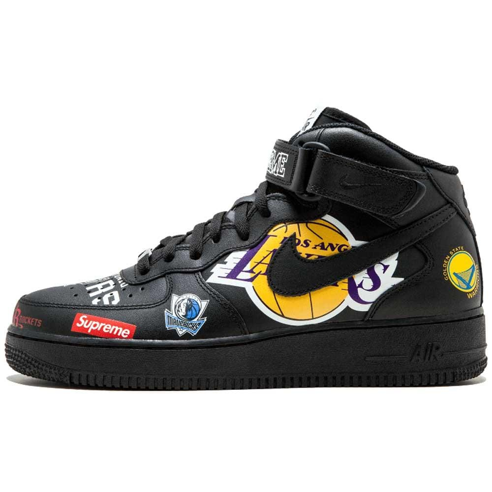 best authentic official authentic quality Supreme x NBA x Air Force 1 Mid 07 'Black'