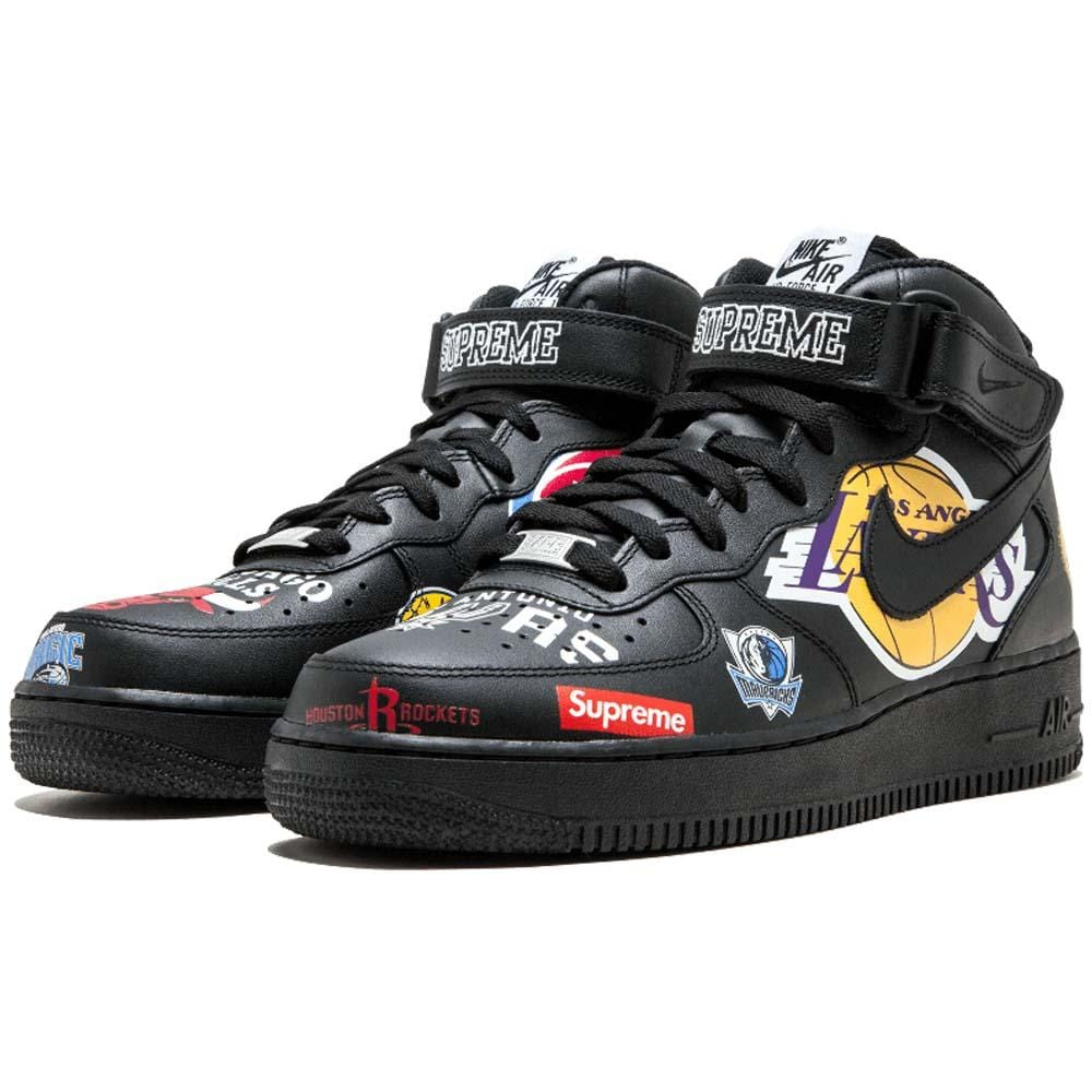 on sale 522c8 a61ed Supreme x NBA x Air Force 1 Mid 07 'Black'